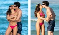 Sao truyền hình Anh hôn đắm đuối bạn gái người mẫu 'bốc lửa' trên bãi biển