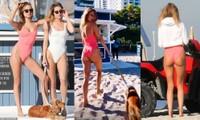 'Đỏ mặt' với bikini khoét hông táo bạo của Kimberley Garner