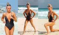 Katie McGlynn diện bikini xẻ sâu hun hút, khoe vòng một 'nhức mắt'