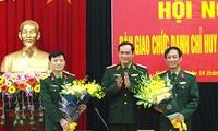 Hội nghị bàn giao chức trách, nhiệm vụ Chỉ huy trưởng Bộ Chỉ huy Quân sự tỉnh Nam Định. Ảnh: VGP