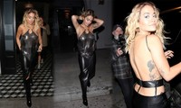 Rita Ora mặc áo yếm mỏng tang, lộ vòng một 'không nội y' chảy xệ