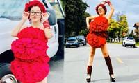 Bất chấp dịch bệnh, Thúy Nga chụp ảnh 'váy gối' trên phố Mỹ không bóng người