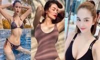 Sao Việt cách ly ngày 16: Hồ Ngọc Hà, Sam và Ngọc Trinh 'đọ' vòng 1 với áo tắm