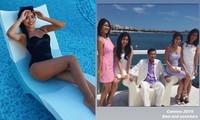 Tiên Nguyễn khoe dáng gợi cảm với đồ bơi sau khi đăng ảnh hiếm về các chị gái