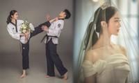 Ảnh cưới đậm chất võ thuật của mỹ nhân Wonder Girls và cao thủ taekwondo