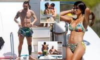 Messi ôm ấp bà xã nóng bỏng trên du thuyền, cùng gia đình Suarez đi nghỉ mát