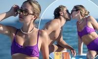 Con gái nữ diễn viên Lisa Rinna nổi bật với bikini tím, hôn đắm đuối bạn trai tại Cannes