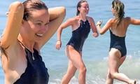 'Thánh nữ sexy' Olivia Wilde mặc áo bơi cổ yếm, khoe hình thể căng tràn sức sống