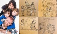 'Nhật ký vẽ nguệch ngoạc' của họa sĩ già về vợ đã mất chạm đến trái tim người đọc