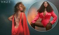 Beyonce diện đầm khoét lưng sâu, khoe vòng ba nóng bỏng trên tạp chí danh tiếng