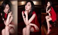 Dương Mịch gợi cảm hết nấc trong sắc đỏ, đôi chân dài miên man thành tâm điểm