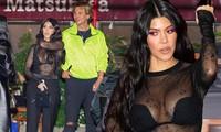 Kourtney Kardashian mặc áo xuyên thấu 'có như không'