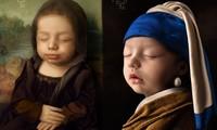 Em bé 18 ngày tuổi hóa thân thành nàng thơ trong hội họa gây 'bão' mạng