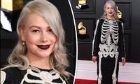 Nữ ca sĩ 9x hóa 'bộ xương di động' trên thảm đỏ Grammy 2021