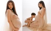 Tung ảnh nude tháng cuối thai kỳ, Chúng Huyền Thanh tăng 20kg vẫn sexy 'bức thở'