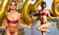 Cựu thiên thần nội y Brazil tung ảnh bikini 'bỏng mắt' mừng sinh nhật tuổi 40