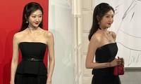 'Đệ nhất mỹ nữ Bắc Kinh' Cảnh Điềm hóa quý cô sang chảnh, vai trần hút mắt