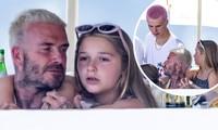 David Beckham trông con cho vợ đi chơi, Harper Seven quấn quýt bố không rời