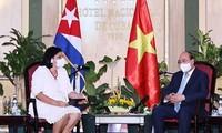 Chủ tịch nước tiếp lãnh đạo các tổ chức hữu nghị Cuba-Việt Nam