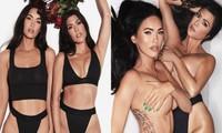 Megan Fox và Kourtney Kardashian để ngực trần táo bạo trong bộ ảnh nội y đôi