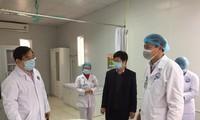 Đoàn công tác của Bộ Y tế kiểm tra phòng chống dịch tại Vĩnh Phúc