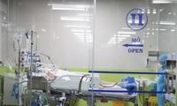 Bệnh nhân 91 điều trị tại BV Chợ Rẫy. Ảnh: BVCC