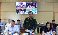 Thiếu tướng Nguyễn Đức Mạnh phát biểu tại hội nghị