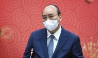 Thủ tướng Nguyễn Xuân Phúc: Các đồng chí đã sẵn sàng chấp nhận rủi ro để nhận khó khăn về mình - Ảnh: VGP/Quang Hiếu