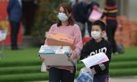 Học sinh tiểu học Xuân Phương rời khu cách ly, về nhà đón Tết muộn