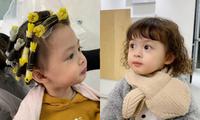 """Xúng xính đón Tết, """"công chúa"""" của Heo Mi Nhon và Kiên Hoàng được cho đi làm tóc xoăn"""