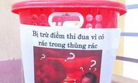 Lớp học bị sao đỏ trừ điểm vì có rác trong thùng rác, dân mạng thắc mắc không hiểu lí do?