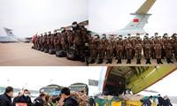 Cận cảnh 8 máy bay không quân Trung Quốc chở gần 800 quân nhân tiếp sức Vũ Hán