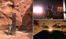 Phi công phát hiện vật thể kim loại bí ẩn giữa sa mạc khi đang đếm cừu