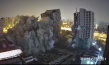Khoảnh khắc đánh sập 4 tòa cao ốc bỏ hoang 20 năm trong tích tắc