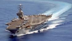 Xem máy bay chiến đấu cất, hạ cánh trên tàu sân bay USS Carl Vinson