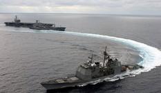 2 chiến hạm Mỹ sẽ cùng tàu sân bay USS Carl Vinson đến Việt Nam