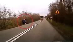 Ôtô lật ngang vì đâm trúng con nai băng qua đường