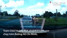 CSGT chặn xe nghi phạm chở 200 ma túy từ Lào về Việt Nam