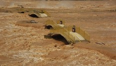 Lũ sông Hoàng Hà ngập cầu tham quan thác Hồ Khẩu