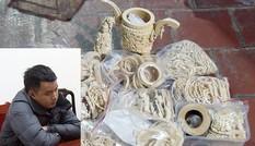 Bắt nam thanh niên tiêu thu sản phẩm chế tác từ ngà voi