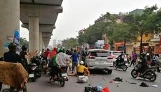 Danh tính tài xế lái ô tô QM5 gây tai nạn liên hoàn, 3 người bị thương ở Hà Nội