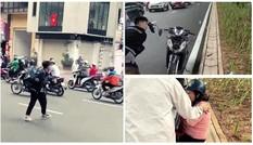 Bắt giam thanh niên 17 tuổi đập phá xe máy sau va chạm giao thông