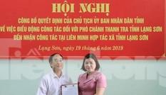Công bố quyết định điều động Phó Chánh Thanh tra tỉnh Lạng Sơn