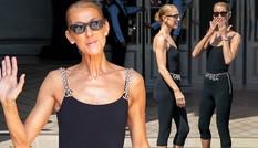 Celine Dion gân guốc gầy gò vẫn chuộng mặc bó sát