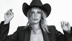 Bella Hadid 'thả rông' ngực trên Vogue