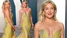 Kate Hudson 40 tuổi trẻ đẹp siêu gợi cảm với đầm hở ngực sâu
