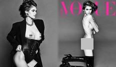 Con gái 19 tuổi của Cindy Crawford lần đầu chụp khỏa thân cực 'nóng' trên Vogue