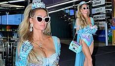 Paris Hilton đẹp hút hồn trong trang phục Halloween như áo tắm