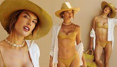 Ngất ngây sắc vóc tuổi 40 của 'nữ hoàng áo tắm' Alessandra Ambrosio