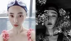 Đăng ảnh selfie ở bể bơi, Phạm Băng Băng để mặt mộc V-line ở tuổi 40